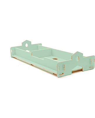 Cocò&Design Nanni Bed that Grows, Green Apple - 180x80x22 cm - Poplar wood Montessori Beds