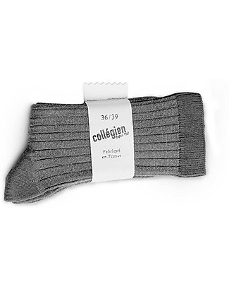 Collégien Ribbed Lurex Socks, Grey – Extra-soft Egyptian cotton! Socks