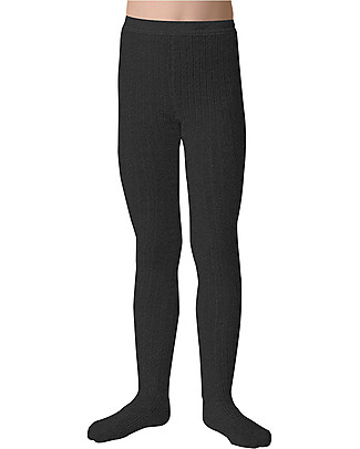 Collégien Ribbed Tights, Dark Grey – Extra-soft Egyptian cotton! Tights