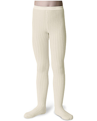 Collégien Ribbed Tights, Off White – Extra-soft Egyptian cotton! Tights