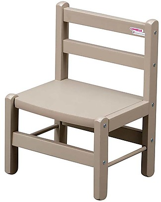 Combelle Beech Wood Kid's Low Chair, Light Grey - Super easy to assemble Chairs