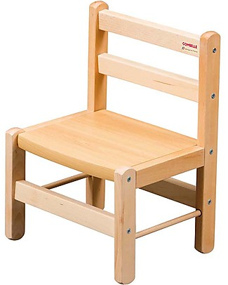 Combelle Beech Wood Kid's Low Chair, Natural - Super easy to assemble Chairs