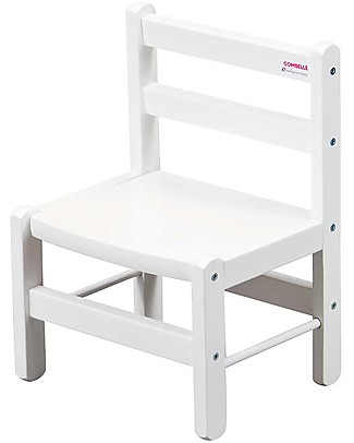 Combelle Beech Wood Kid's Low Chair, White - Super easy to assemble Chairs