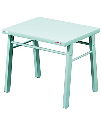 Combelle Beech Wood Kid's Low Table, Mint - Super easy to assemble Tables And Chairs