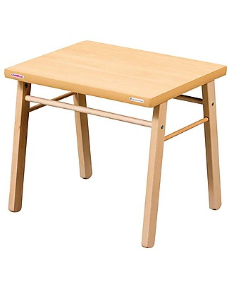 Combelle Beech Wood Kid's Low Table, Natural - Super easy to assemble Tables And Chairs