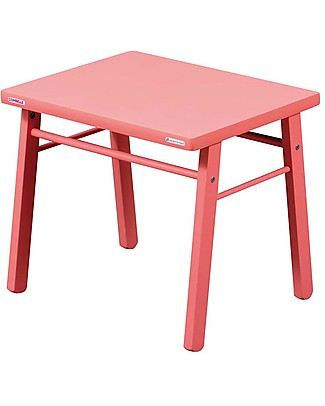 Combelle Beech Wood Kid's Low Table, Pink - Super easy to assemble Tables And Chairs