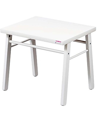 Combelle Beech Wood Kid's Low Table, White - Super easy to assemble Tables And Chairs