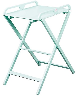 Folding changing table Narrow Jade Foldable Changing Table Mint Beech Wood Family Nation Combelle Jade Foldable Changing Table Mint Light Grey Unisex