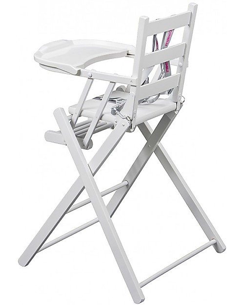 Combelle Sarah Solid Beechwood Ultra Foldable High Chair White
