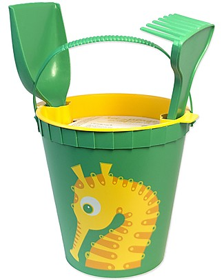 Coq en Pâte Beach Toy Set - Sea Horse Apple Green - 100% Algoblend® (Brown Algae) Beach Toys