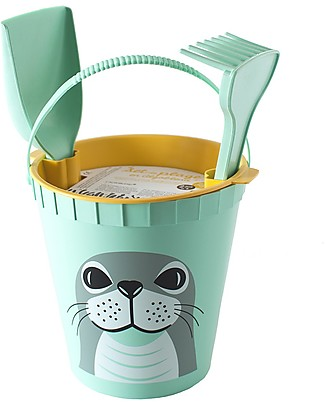 Coq en Pâte Beach Toy Set - Seal Green - 100% Algoblend® (Brown Algae) Beach Toys