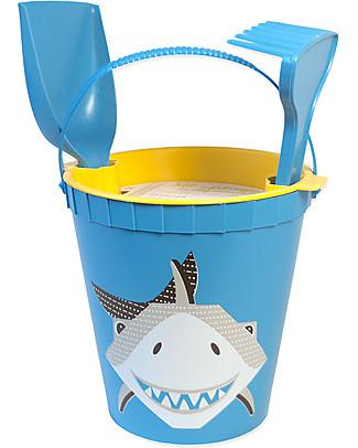 Coq en Pâte Beach Toy Set - Shark Whale - 100% Algoblend® (Brown Algae) Beach Toys