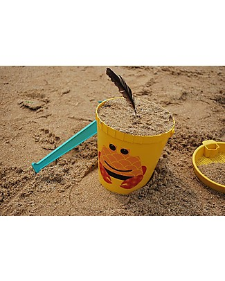 Coq en Pâte Beach Toy Set - Yellow Crab - 100% Algoblend® (Brown Algae) Beach Toys