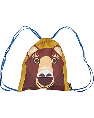 Coq en Pâte Brown Bear Kids Soft Backpack/Bag - 100% Organic Cotton (37 x 33 cm) Small Backpacks