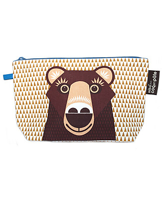 Coq en Pâte Brown Bear Pencil Case/Pouch - 100% Organic Cotton Canvas Pencil Cases