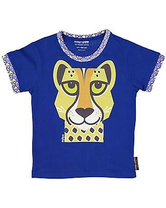 Coq en Pâte Cheetah T-Shirt, Blue - 100% Organic Cotton T-Shirts And Vests