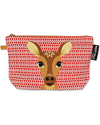 Coq en Pâte Deer Pencil Case/Pouch - 100% Organic Cotton Canvas null