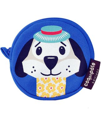 Coq en Pâte Dougie the Dog kid's purse - printed on 100% organic cotton! Purses