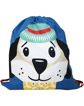 Coq en Pâte Dougie the Dog Kids Soft Backpack/Bag - 100% Organic Cotton (37 x 33 cm) Small Backpacks