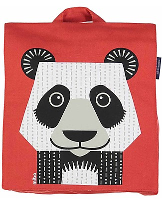Coq en Pâte Giant Panda Backpack by Mibo - 100% Organic Cotton (23x23x7.5 cm) Small Backpacks