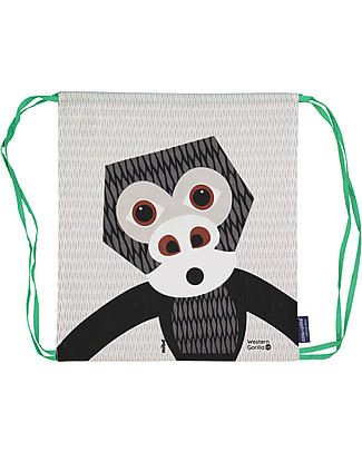 Coq en Pâte Gorilla Kids Soft Backpack/Bag, White - 100% Organic Cotton (37 x 33 cm)	 Small Backpacks