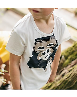 Coq en Pâte Gorilla T-shirt, White - 100% organic cotton T-Shirts And Vests