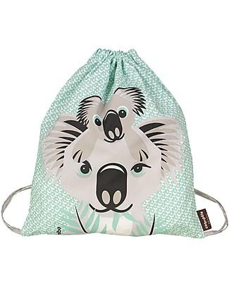 Coq en Pâte Koala Kids Soft Backpack/Bag, Light Green- 100% Organic Cotton (37 x 33 cm) null