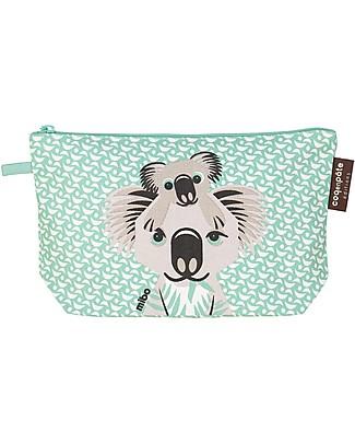Coq en Pâte Koala Pencil Case/Pouch, Light Green - 100% Organic Cotton Canvas null