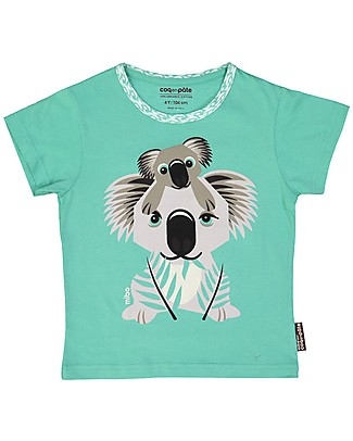 Coq en Pâte Koala T-Shirt, Light Green - 100% Organic Cotton T-Shirts And Vests