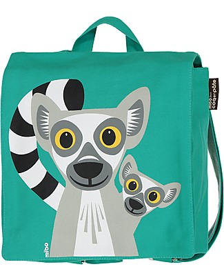 Coq en Pâte Lemur Backpack by Mibo - 100% Organic Cotton (23x23x7.5 cm) Small Backpacks