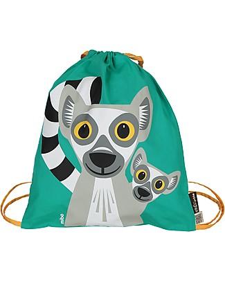 Coq en Pâte Lemur Kids Soft Backpack/Bag, Green- 100% Organic Cotton (37 x 33 cm) null