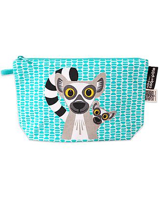 Coq en Pâte Lemur Pencil Case/Pouch - 100% Organic Cotton Canvas null