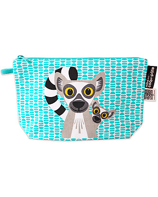 Coq en Pâte Lemur Pencil Case/Pouch - 100% Organic Cotton Canvas Pencil Cases
