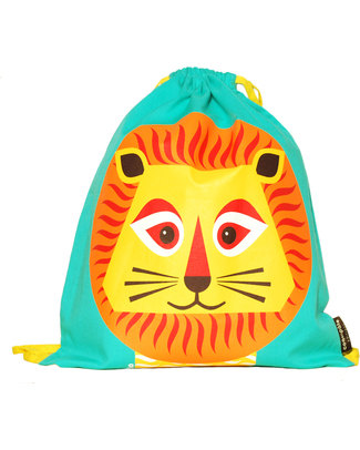 Coq en Pâte Louis the Lion Kids Soft Backpack/Bag - 100% Organic Cotton (37 x 33 cm) Small Backpacks