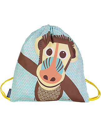 Coq en Pâte Mandrill Kids Soft Backpack/Bag, Blue - 100% Organic Cotton (37 x 33 cm)	 Small Backpacks