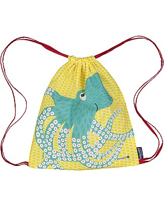 Coq en Pâte Octopus Kids Soft Backpack/Bag, Yellow - 100% Organic Cotton (37 x 33 cm)	 Small Backpacks