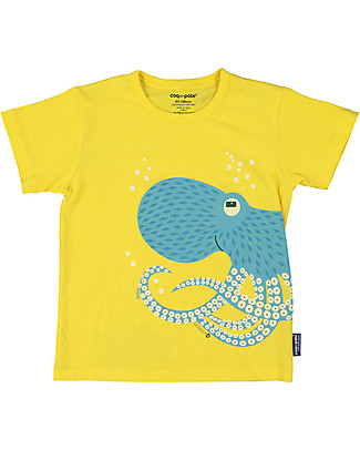 Coq en Pâte Octopus T-shirt, Yellow - 100% organic cotton T-Shirts And Vests