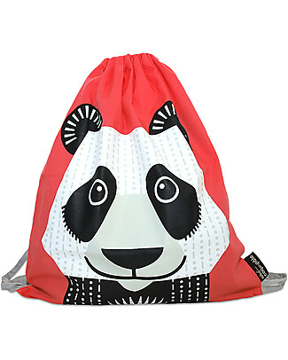 Coq en Pâte Panda Kids Soft Backpack/Bag - 100% Organic Cotton (37 x 33 cm) Small Backpacks