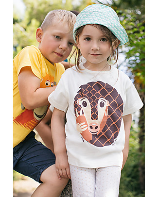 Coq en Pâte Pangolin T-shirt, White - 100% organic cotton T-Shirts And Vests