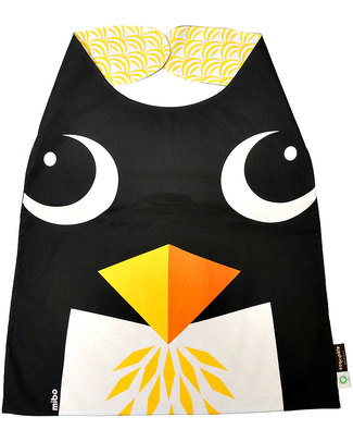 Coq en Pâte Penguin Big Bib - 100 % Organic Cotton For children 2-4 years (42 x 44 cm) Large Bibs