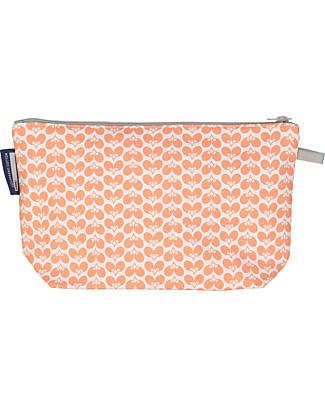 Coq en Pâte Rabbit Pencil Case/Pouch, Coral Pink - 100% Organic Cotton Canvas Pencil Cases