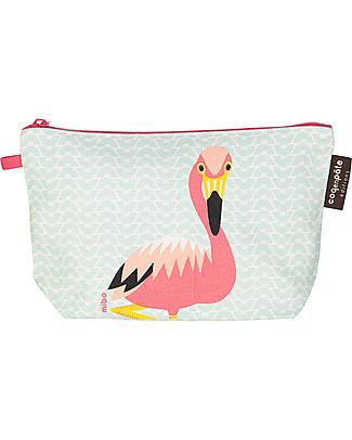 Coq en Pâte Rose Flamingo Pencil Case/Pouch - 100% Organic Cotton Canvas null