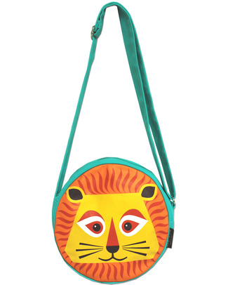 Coq en Pâte Round Bag - Louis the Lion - 100% Organic Cotton - (23 x 23 x 7 cm) Messenger Bags