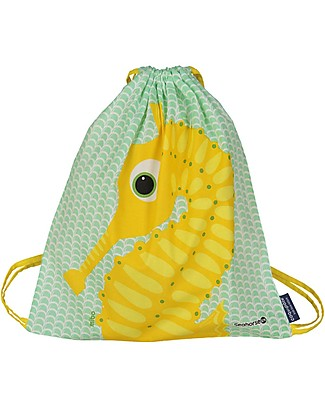 Coq en Pâte Sea Horse Kids Soft Backpack/Bag, Apple Green - 100% Organic Cotton (37 x 33 cm)	 Small Backpacks