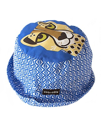 Coq en Pâte Sunhat Cheetah, Blue - 100% Organic Cotton Sunhats