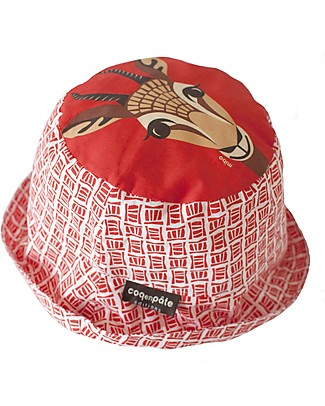 Coq en Pâte Sunhat Gazelle, Red - 100% Organic Cotton Sunhats