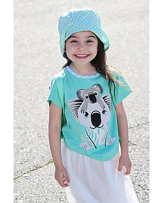 Coq en Pâte Sunhat Koala, Light Green - 100% Organic Cotton Sunhats