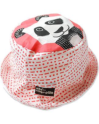 Coq en Pâte Sunhat Panda, Pink – 100% Organic Cotton Hats