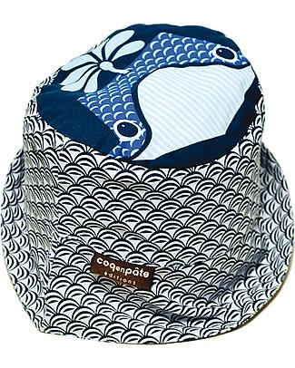 Coq en Pâte Sunhat Whale, Blue - 100% Organic Cotton Hats