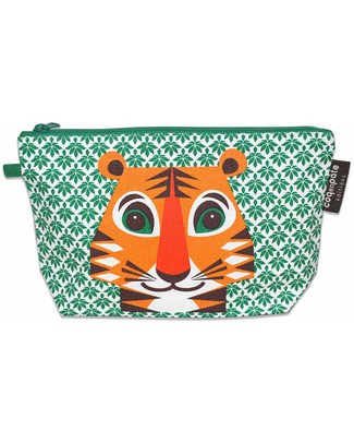 Coq en Pâte Tiger Pencil Case/Pouch - 100% Organic Cotton Canvas Pencil Cases